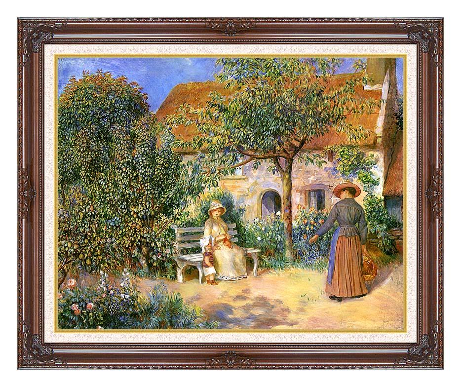 Pierre Auguste Renoir Garden Scene in Brittany with Dark Regal Frame w/Liner