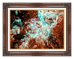 Courtesy Nasa Jpl Caltech 30 Doradus Nebula In Large Magellic Cloud canvas with dark regal wood frame