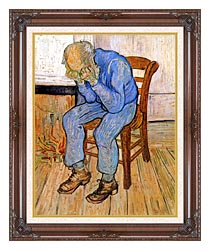 Vincent Van Gogh Old Man In Sorrow canvas with dark regal wood frame