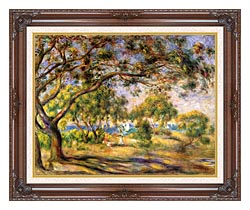 Pierre Auguste Renoir Noirmoutiers canvas with dark regal wood frame