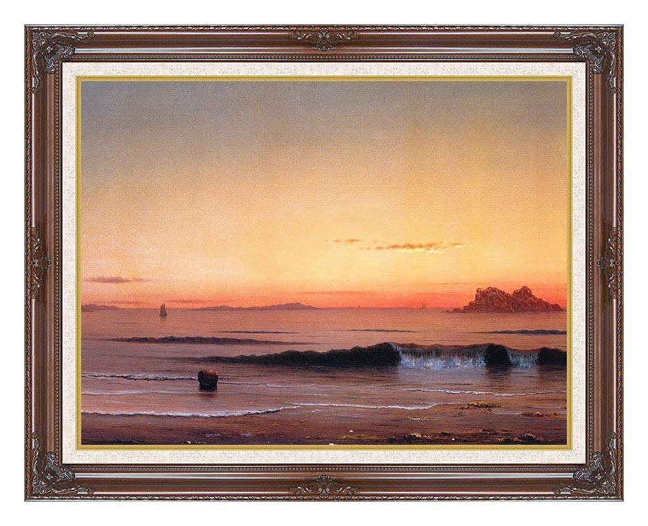 Martin Johnson Heade Twilight, Singing Beach (detail) with Dark Regal Frame w/Liner