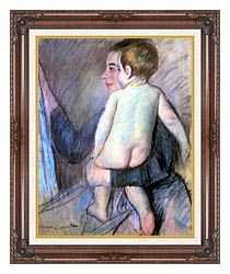 Mary Cassatt At The Window canvas with dark regal wood frame