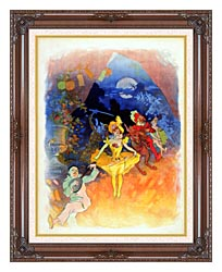 Jules Cheret Musee Grevin canvas with dark regal wood frame