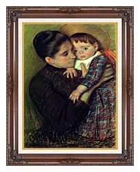 Mary Cassatt Helene De Septeuil canvas with dark regal wood frame