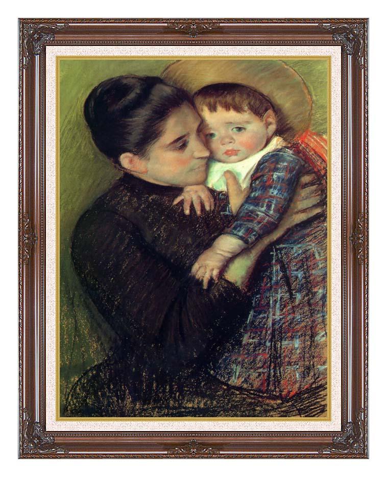 Mary Cassatt Helene de Septeuil with Dark Regal Frame w/Liner