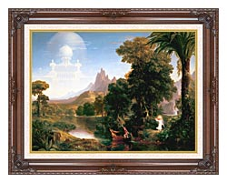 Thomas Cole The Voyage Of Life Youth canvas with dark regal wood frame