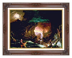 Thomas Cole The Voyage Of Life Manhood canvas with dark regal wood frame