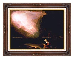 Thomas Cole The Voyage Of Life Old Age canvas with dark regal wood frame