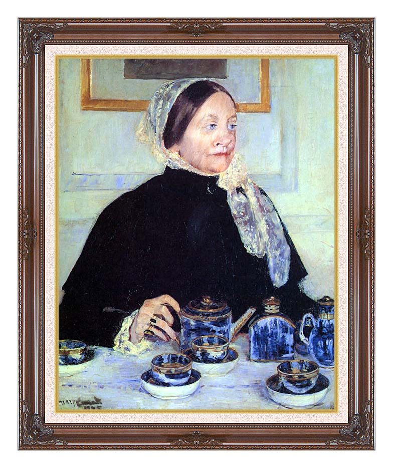 Mary Cassatt Lady at the Tea Table with Dark Regal Frame w/Liner