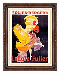 Jules Cheret Folies Bergere La Loie Fuller canvas with dark regal wood frame