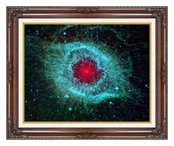 Courtesy Nasa Jpl Caltech Comets Kick Up Dust In Helix Nebula canvas with dark regal wood frame