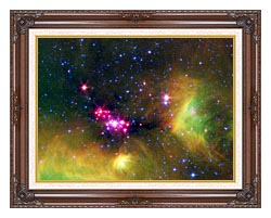 Courtesy Nasa Jpl Caltech Stars In Serpens canvas with dark regal wood frame