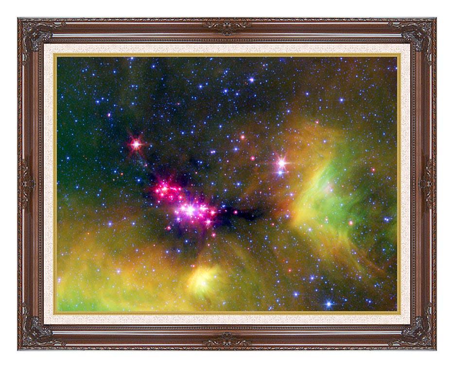 Courtesy Nasa Jpl Caltech Stars in Serpens with Dark Regal Frame w/Liner