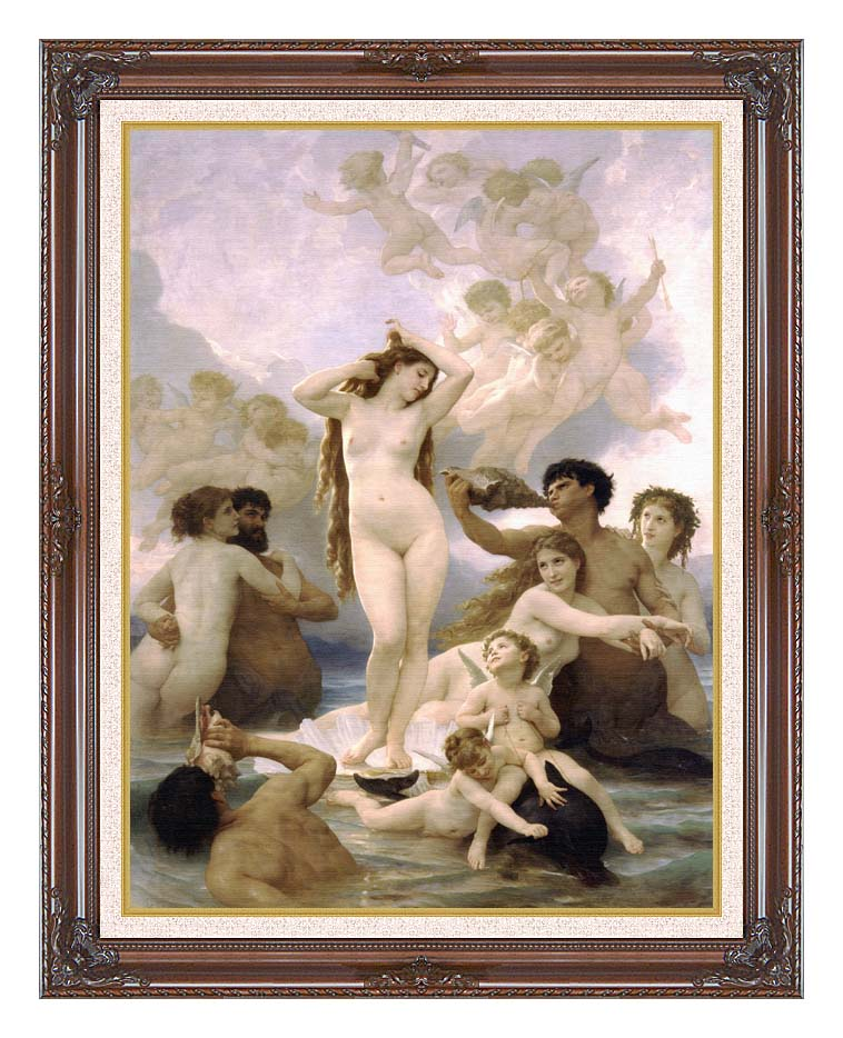 William Bouguereau The Birth of Venus with Dark Regal Frame w/Liner