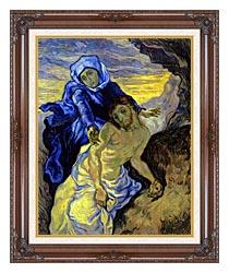 Vincent Van Gogh Pieta canvas with dark regal wood frame
