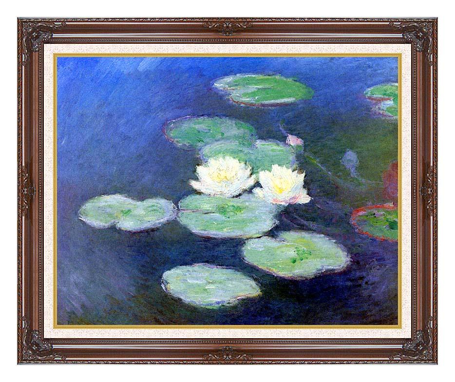 Claude Monet Nympheas, Effet du Soir with Dark Regal Frame w/Liner