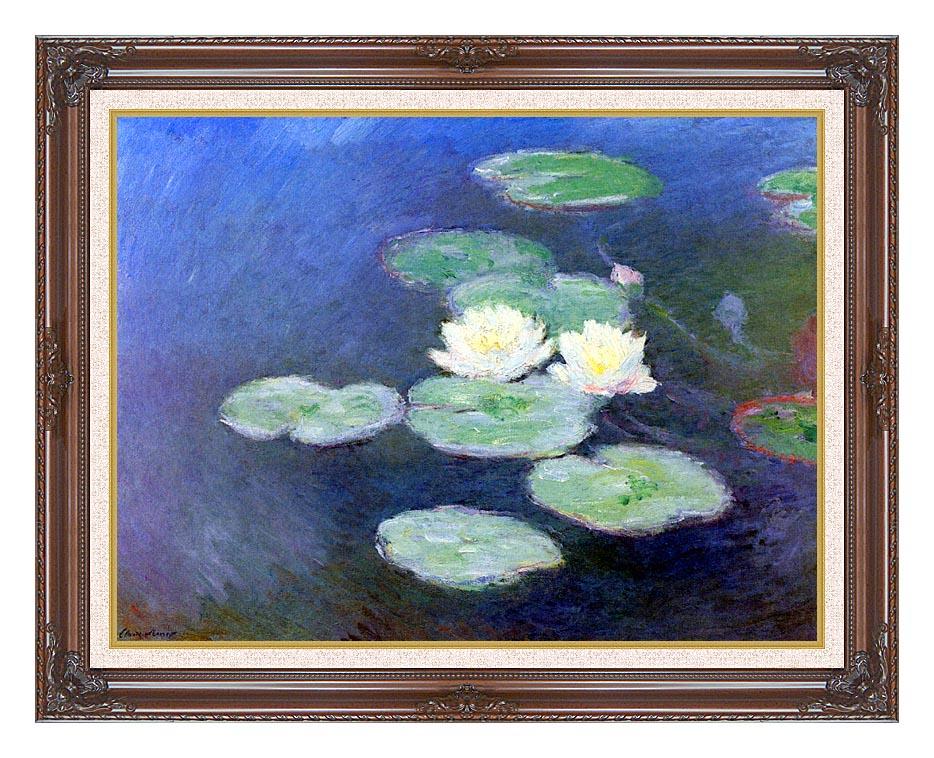 Claude Monet Nympheas, Effet du Soir (detail) with Dark Regal Frame w/Liner