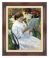 Mary Cassatt Mary Cassatt On A Balcony canvas with dark regal wood frame