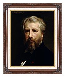 William Bouguereau Portrait Of The Artist William Bouguereau canvas with dark regal wood frame