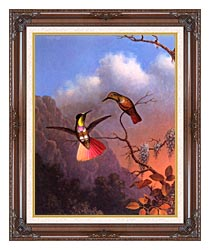 Martin Johnson Heade Hooded Visorbearer canvas with dark regal wood frame