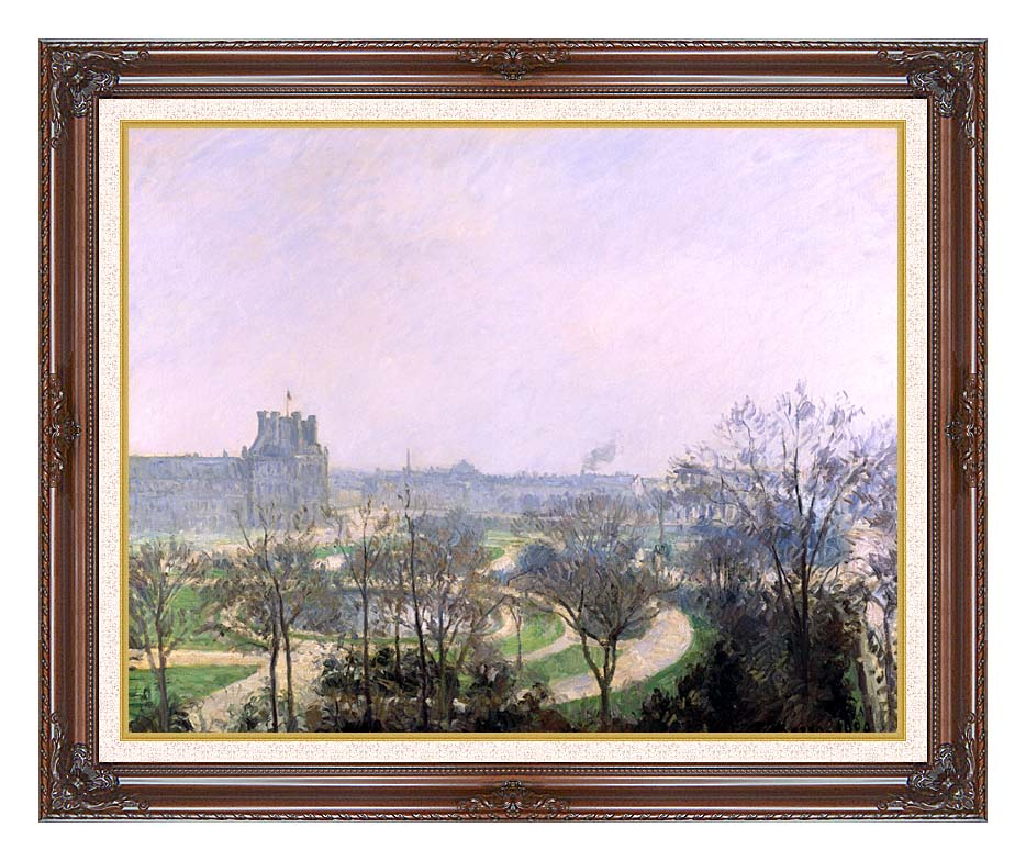 Camille Pissarro The Tuilieries Gardens with Dark Regal Frame w/Liner