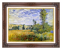 Claude Monet Vetheuil canvas with dark regal wood frame
