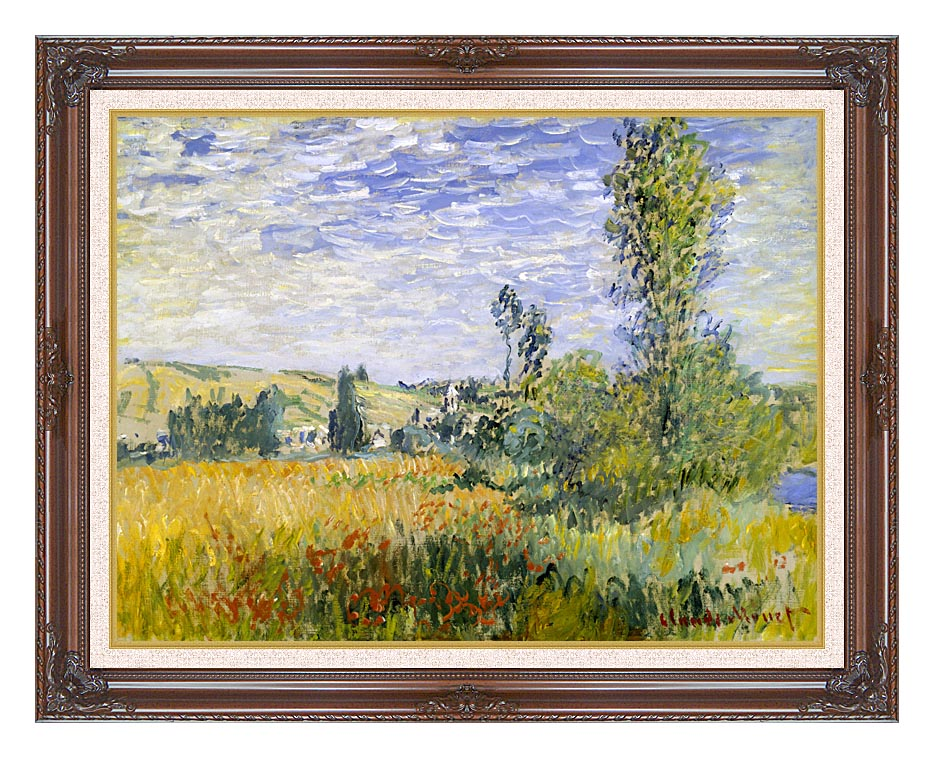 Claude Monet Vetheuil with Dark Regal Frame w/Liner