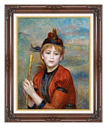 Pierre Auguste Renoir The Rambler canvas with dark regal wood frame