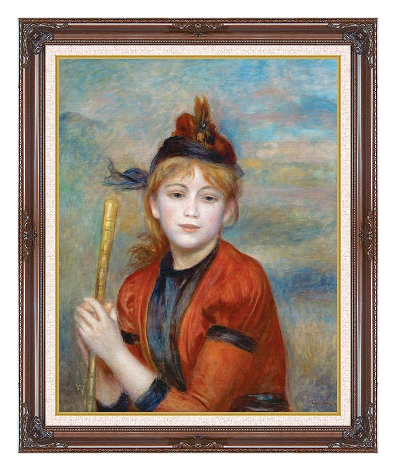 Pierre Auguste Renoir The Rambler with Dark Regal Frame w/Liner