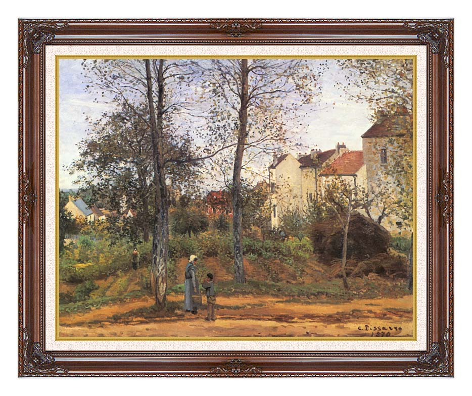 Camille Pissarro Landscape at Louveciennes with Dark Regal Frame w/Liner