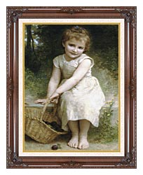 William Bouguereau Plums canvas with dark regal wood frame