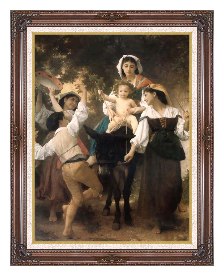 William Bouguereau Return from the Harvest with Dark Regal Frame w/Liner