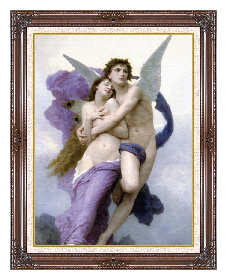 William Bouguereau The Abduction of Psyche with Dark Regal Frame w/Liner