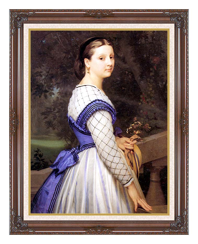 William Bouguereau The Countess de Montholon with Dark Regal Frame w/Liner