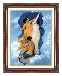 William Bouguereau The Dance canvas with dark regal wood frame