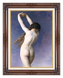 William Bouguereau The Lost Pleiad Detail canvas with dark regal wood frame