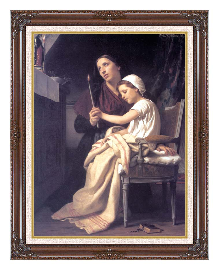 William Bouguereau The Thank Offering with Dark Regal Frame w/Liner