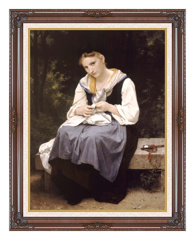 William Bouguereau Young Worker with Dark Regal Frame w/Liner