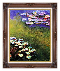 Claude Monet Monet Water Lilies canvas with dark regal wood frame