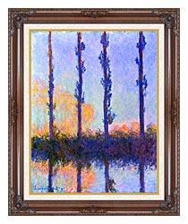 Claude Monet The Poplars canvas with dark regal wood frame