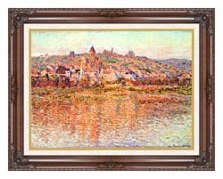 Claude Monet Vetheuil In Summertime canvas with dark regal wood frame