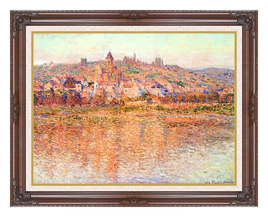 Claude Monet Vetheuil in Summertime with Dark Regal Frame w/Liner