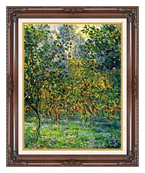 Claude Monet Under The Lemon Trees Bordighera canvas with dark regal wood frame