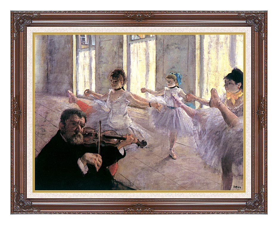 Edgar Degas Rehearsal with Dark Regal Frame w/Liner