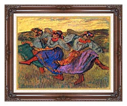 Edgar Degas Russian Dancers canvas with dark regal wood frame