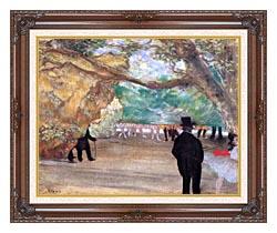 Edgar Degas The Curtain canvas with dark regal wood frame