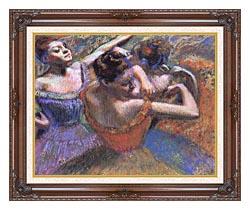 Edgar Degas The Dancers canvas with dark regal wood frame