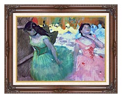 Edgar Degas The Entry Of The Masked Dancers canvas with dark regal wood frame