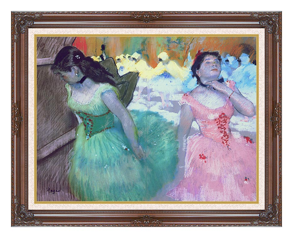 Edgar Degas The Entry of the Masked Dancers with Dark Regal Frame w/Liner