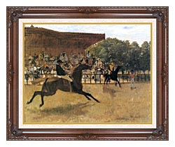 Edgar Degas The False Start canvas with dark regal wood frame